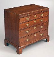 George III Mahogany Bachelor's Chest, Circa 1750-Main Angled View Left