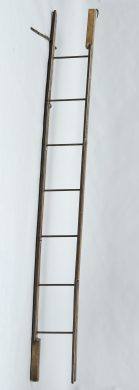 Georgian Ash and Iron Hinged Folding Ladder, Circa 1830