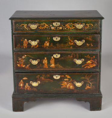 George III Japanned Chest of Drawers