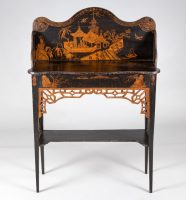 Georgian Japanned Side Serving Table, Circa 1790