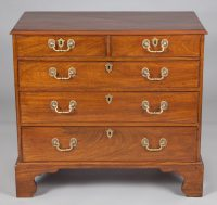 Georgian Mahogany Chest of Drawers-Front View