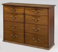 Georgian Eight Drawer Mahogany Gentleman's Chest-Front View Angled