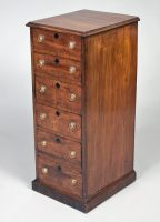 Georgian Mahogany Six Drawer Chest Circa 1840-Angled View Main