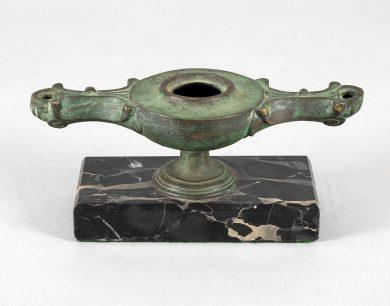 Italian Grand Tour Bronze Oil Lamp