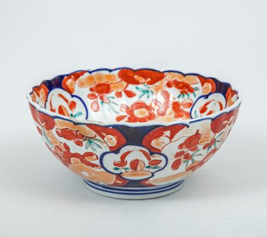 Imari Bowl with Scalloped Edge