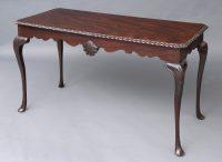 Irish Carved Mahogany Side Table, Circa 1850