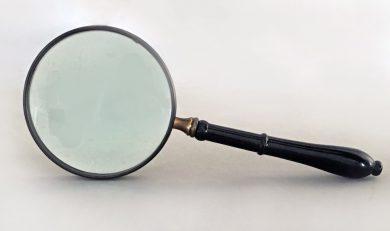 Large Magnifying Glass with Ebonized Handle