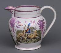 Large Sunderland Pink Lustre Jug, Circa 1830