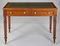 Late Regency Mahogany Small Writing Table-Front View