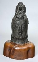 Limestone Bust of Bodhisattva, Circa 1800
