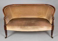 Antique Mahogany Bobbin Turned Sofa