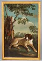 Early 19th C Portrait of a Hunting Dog