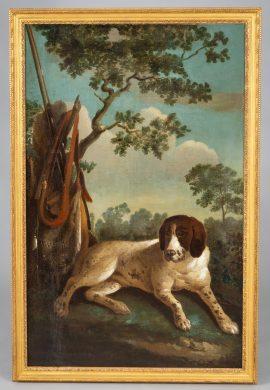 18th C Portrait of a Hunting Dog