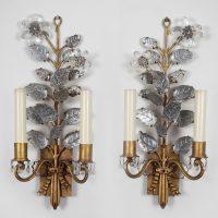 Pair of Baguès Style Sconces