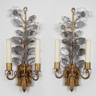 Pair of Baguès Style Sconces