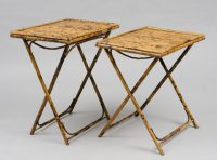 Pair of Antique English Bamboo Folding Tables
