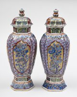 Pair of Chinese Clobbered Vases, Circa 1700
