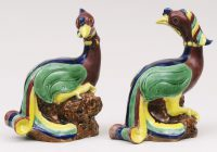 Pair Chinese Phoenix Birds, Circa 1840