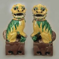 Antique Pair Chinese Foo Dogs