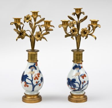 Pair French Candelabra on