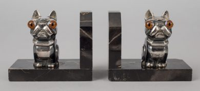 Pair French Art Deco Bookends Signed H. Moreau (Hippolyte François Moreau)