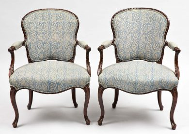 George III Pair of Mahogany Armchairs, Circa 1770