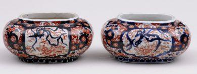 Pair Japanese Imari Jardinieres, Circa 1880