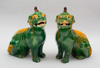 Large Pair of Chinese Foo Dogs