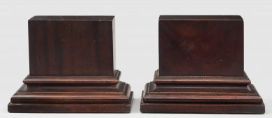 Pair of Mahogany Bookends