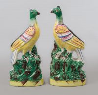 Pair of Staffordshire Exotic Birds