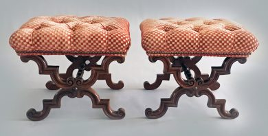 Pair William IV Rosewood Stools