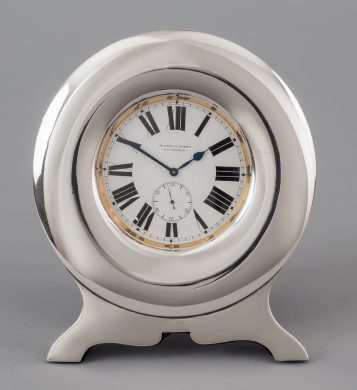 Pocket Clock in Sterling Silver Stand, 1904