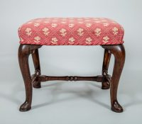 Antique Queen Anne Walnut Stool