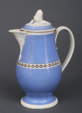 Rare English Mocha Coffee Pot, Circa1820