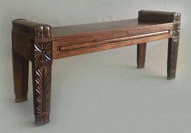 Regency Period Carved Mahogany Bench