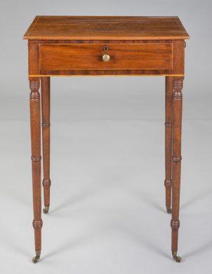 Regency Mahogany Work Table, Circa 1810