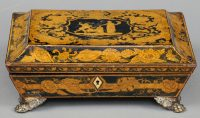 Regency Penwork Games Box