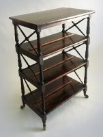 Regency Rosewood Double-Sided Book Stand-Main Angled View