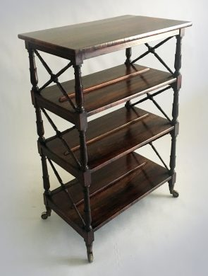 Regency Rosewood Double-Sided Book Stand