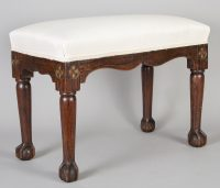 Regency Simulated Rosewood Bench-Angled View