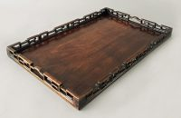 Rosewood Tray with Carved Gallery