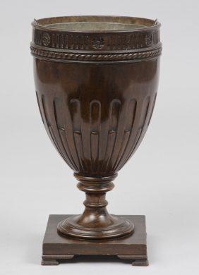 Sheraton Style Mahogany Cutlery Urn, Jardiniere, Circa 1890