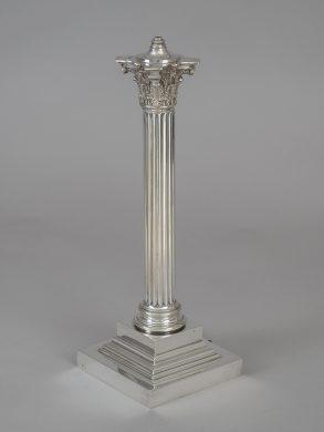 Silver Plate Corinthian Column Lamp Base