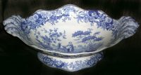 Spode Blue and White Footed Dessert Compote