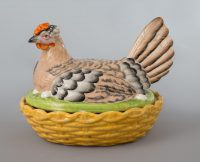 Antique Staffordshire Hen on Nest, Circa 1870