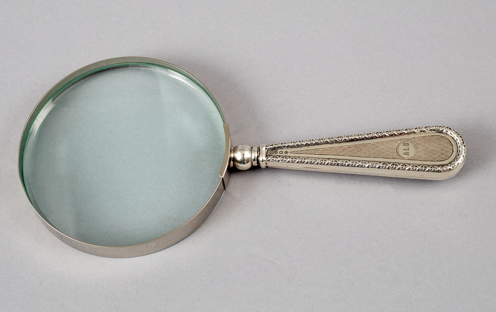 antique sterling silver magnifying glass Halmarked England