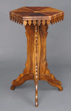Specimen Wood Antique Pedestal Table