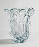 Val St. Lambert Crystal Glass Vase by Guido Bon