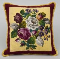 Victorian Beadwork Cushion, Circa 1880