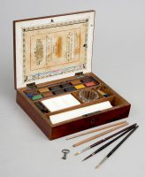 Victorian Artist's Paint Box-Main Angled View